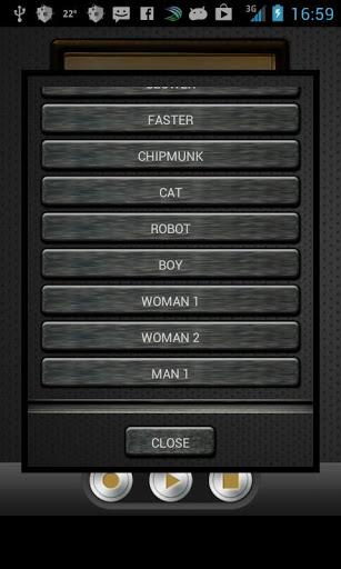 دانلود نرم افزار تغییر صدا برای گوشی Change my Voice v1.9.8